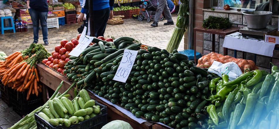 Hier gibt es viel günstiges und frisches Gemüse