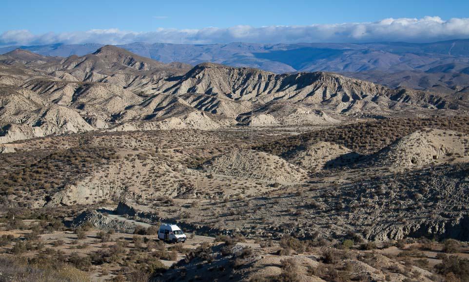 Stellplatz Wüste von Tabernas